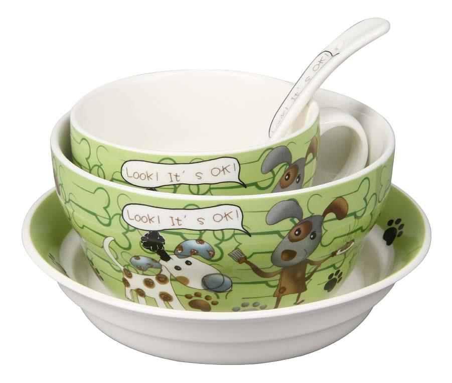 Купить Набор детской посуды 87965, Набор детской посуды, 4 предмета, Rosenberg, Наборы детской посуды
