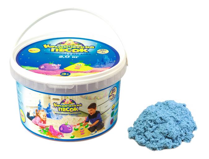 Кинетический и космический песок 1TOY Голубой 2 кг