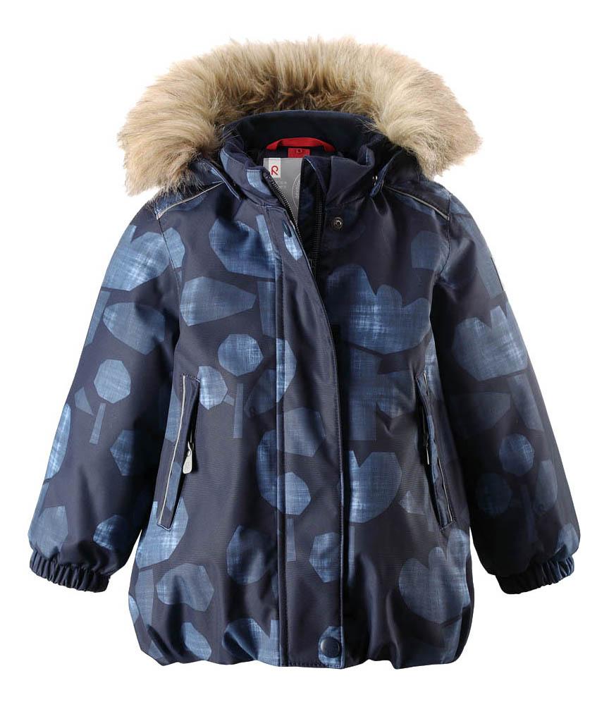 Купить Куртка детская Reima Reimatec Winter Jacket Pihlaja синяя с принтом р.80,