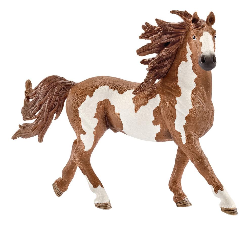 Купить Жеребец породы пинто 16 см, Фигурка лошадки Schleich Американский Пейнтхорс жеребец 13794, Фигурки животных