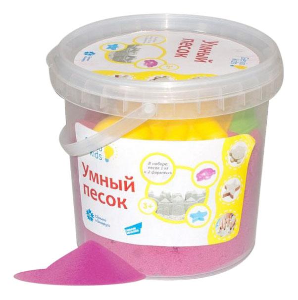 Купить Умный песок розовый 1 кг, Умный песок 1 кг Genio Kids розовый, Dream Makers, Лепка