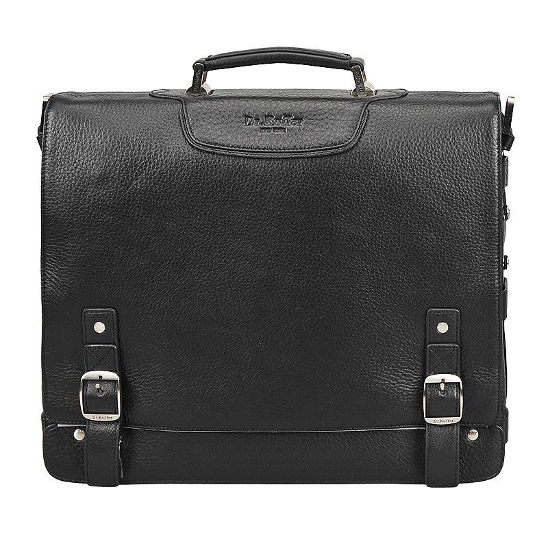 Портфель мужской кожаный Dr. Koffer B402141-01-04 черный фото