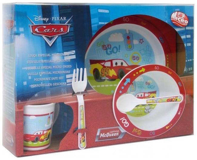 Купить 121589, Набор детской посуды для СВЧ Stor Тачки 35379: тарелка + миска + кружка + приборы,