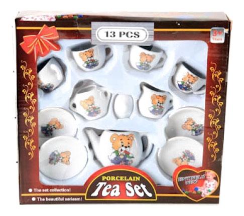 Купить Чайный набор porcelain tea set 13 предметов Д34201, Чайный набор Porcelain Tea Set 13 предметов Shenzhen Toys Д34201, Игрушечная посуда