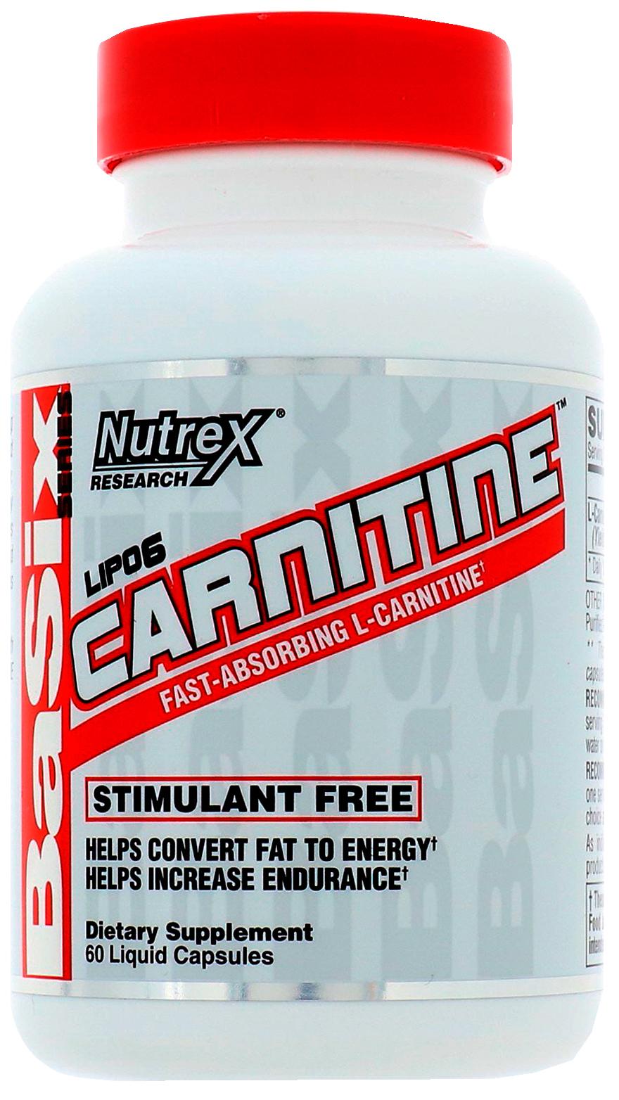 L-carnitine Nutrex Lipo 6 60 капс.