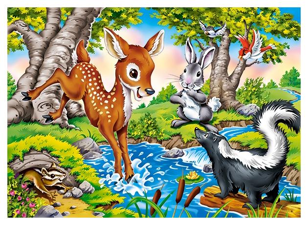 Купить Пазл Castorland Лесные животные, 260 деталей Midi, Пазлы