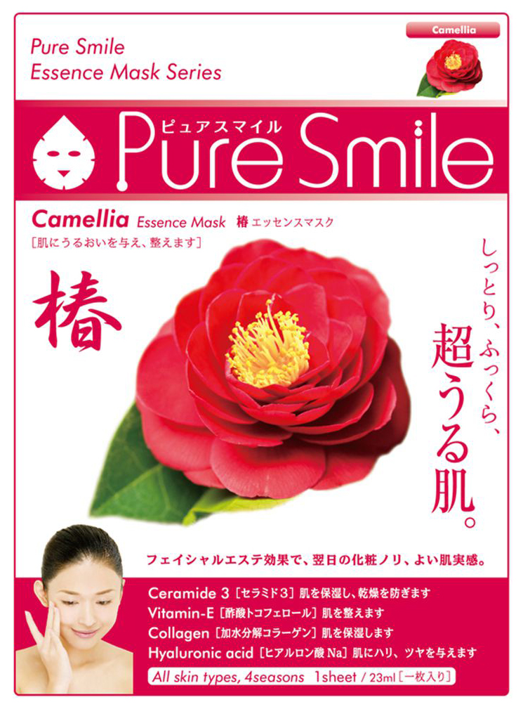 Маска для лица SUNSMILE Pure Smile Essence Mask Camellia 23 мл фото