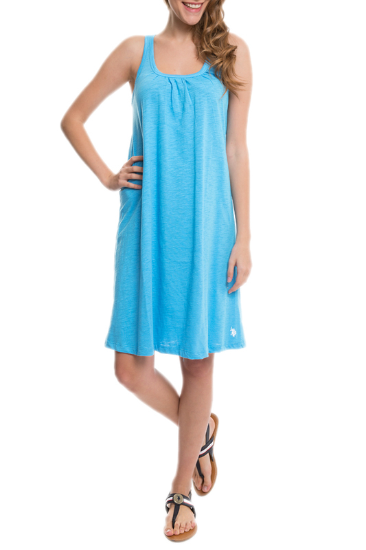Платье женское U.S. Polo Assn. G082CS075P01IK08 350 голубое XS