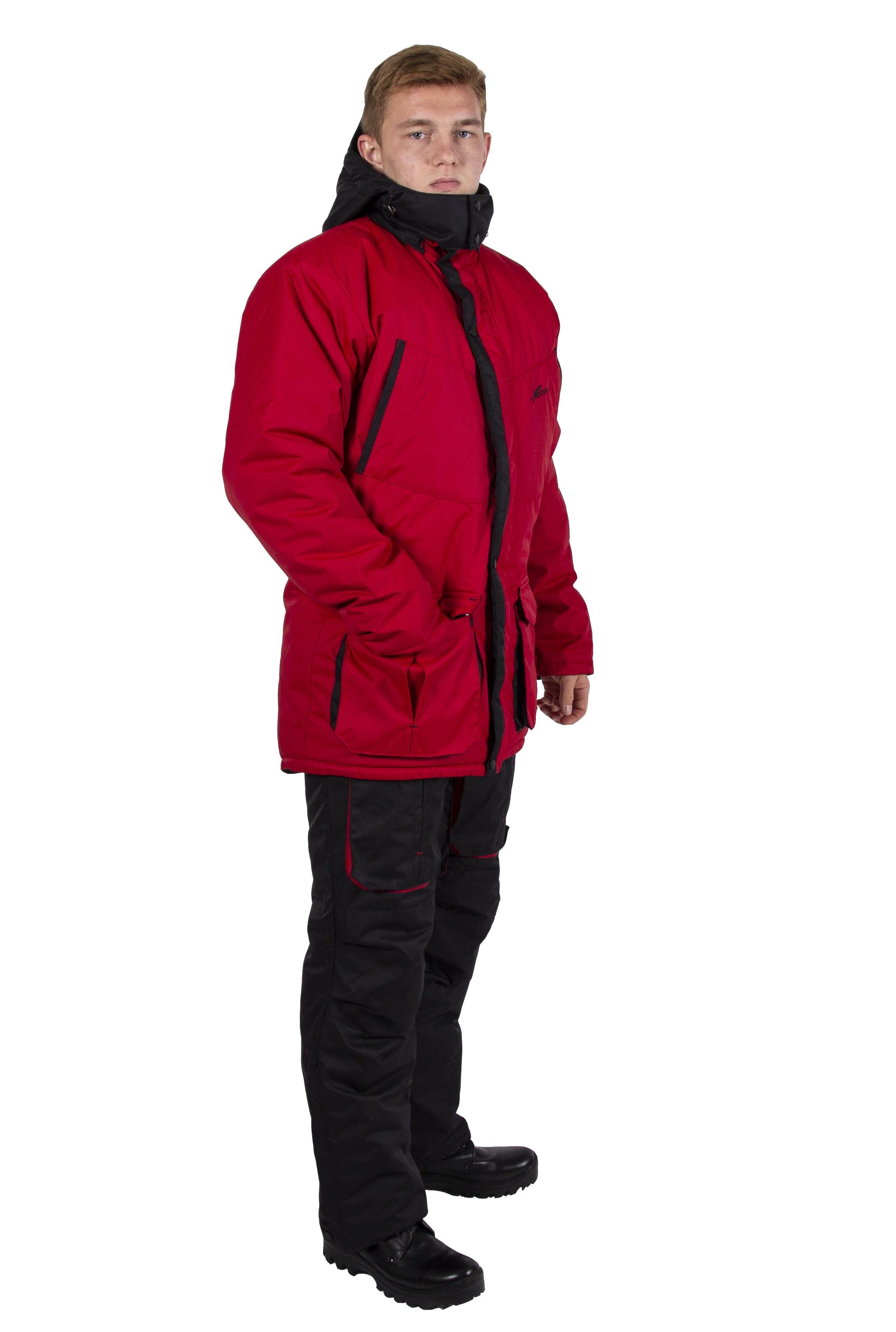 Зимний костюм для охоты и рыбалки KATRAN Берген -40C Таслан Красный, 56-58/170-176 фото