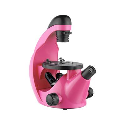 Микроскоп школьный Микромед Эврика 40х-320х фуксия, инвертированный