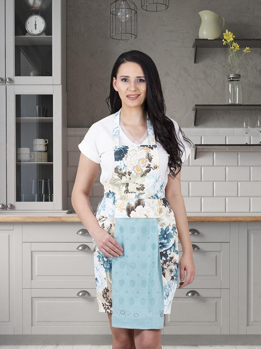 Фартук кухонный KARNA с салфеткой из велюра