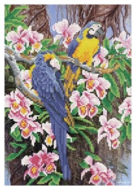 Купить РЫЖИЙ КОТ Алмазная мозаика, блестящая Тропические попугаи, 30х40 см ASH006, Рыжий кот, Мозаики