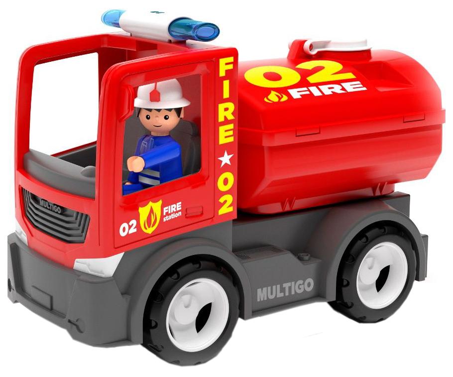 Купить Пожарный грузовик с цистерной и водителем, Efko, Машинки-трансформеры