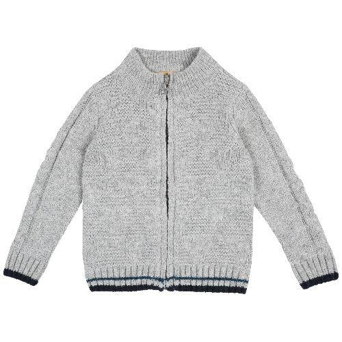 Купить 9096920, Кардиган Chicco для мальчиков р.80 цв.серый, Кофточки, футболки для новорожденных