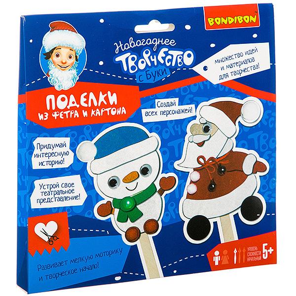 """Набор для творчества """"Поделки из фетра и картона. Дед Мороз и Снеговичок"""""""