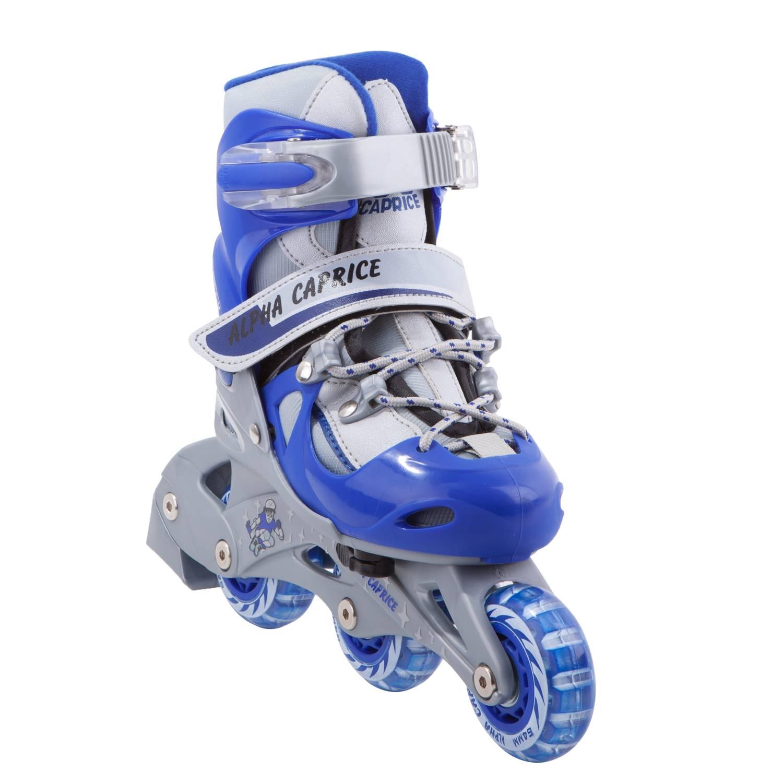 Раздвижные роликовые коньки Alpha Caprice TEDDY blue XS 27-30 фото