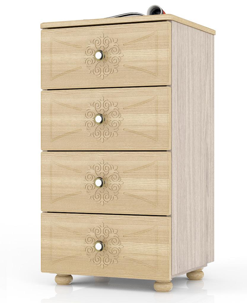 Комод Мебельный Двор Онега К-18 46х40х85 см, ясень шимо светлый