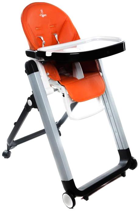 Купить Стульчик для кормления Lepre Fiesta (цвет: оранжевый), Стульчики для кормления