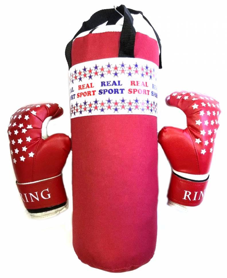 Набор боксерский RealSport МИНИ RS150 красный фото