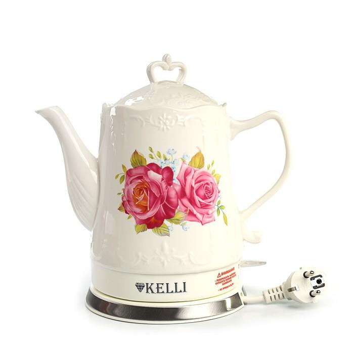 Чайник электрический Kelli KL 1339 White Flower