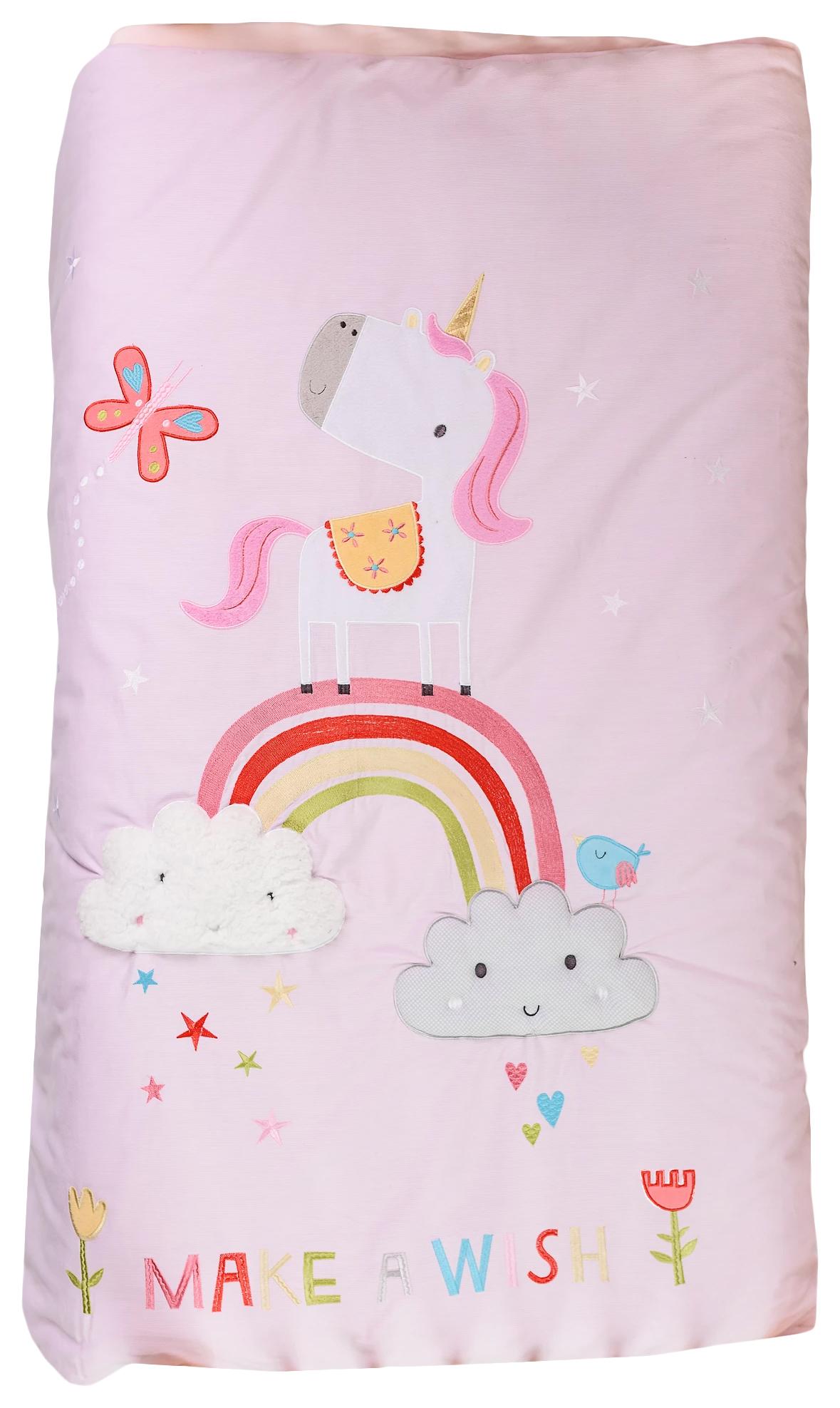 Купить Одеяло Bizzi Growin (Биззи Гровин) Rainbow and Unicorns 120*100 BG001, Одеяла для новорожденных