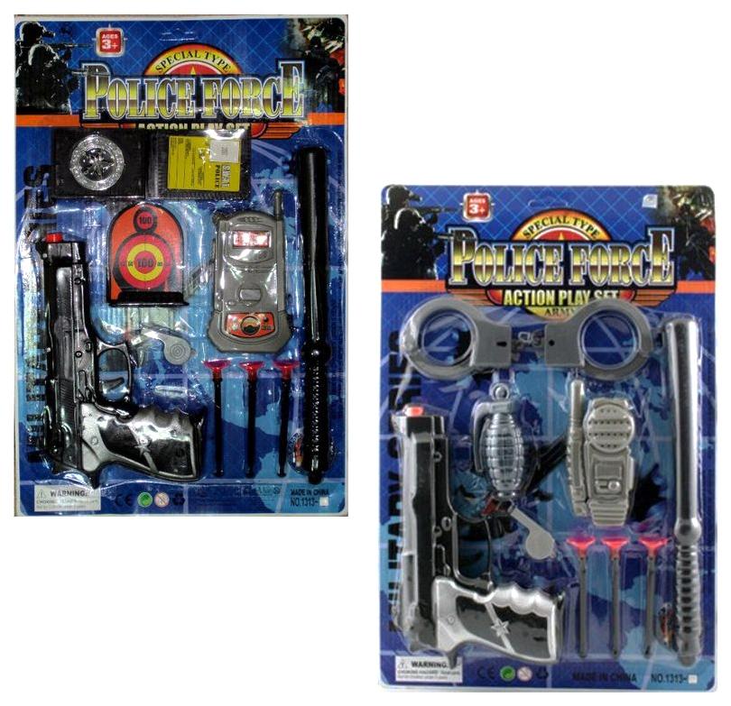 Купить Набор аксессуаров Police Force, 2 вида, NoBrand, Детские наборы полицейского