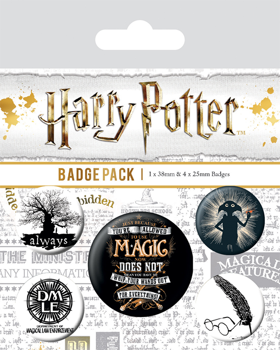 Набор значков Pyramid Harry Potter - Symbols (5 шт) BP80567 фото