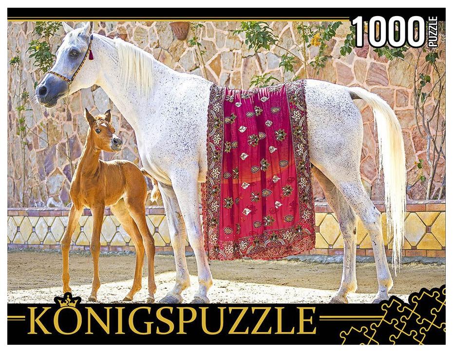 Купить Пазл Konigspuzzle Лошадь с жеребенком КБК1000-6470 1000 деталей, Königspuzzle, Пазлы