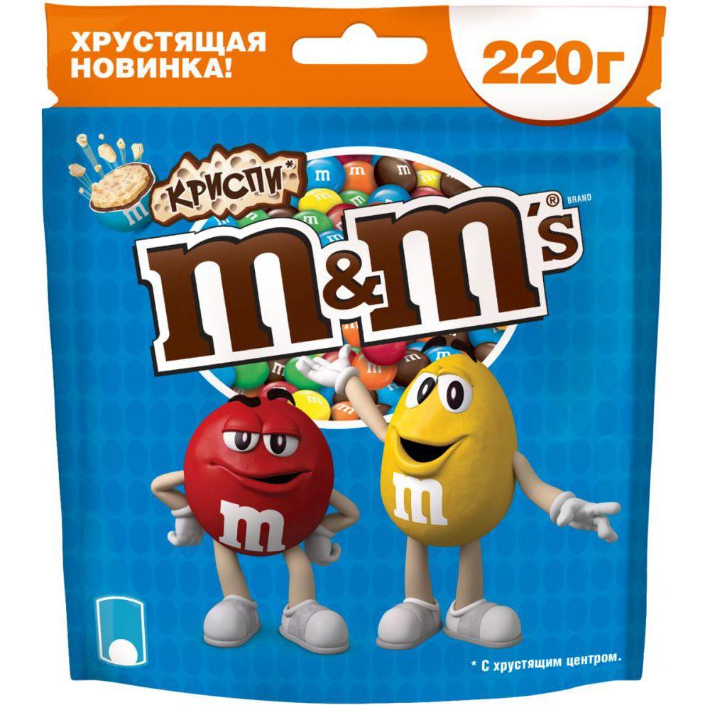 Драже M#and#M\'s  криспи 220 г