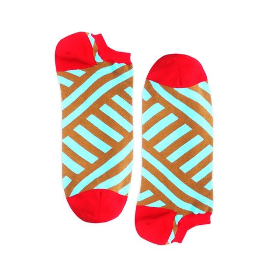 Носки унисекс Burning heels Короткая диагональ разноцветные 36-38
