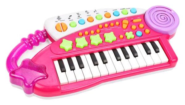 Купить Синтезатор детский Наша игрушка Удачливый музыкант 24 клавиши BX1606, Детские музыкальные инструменты