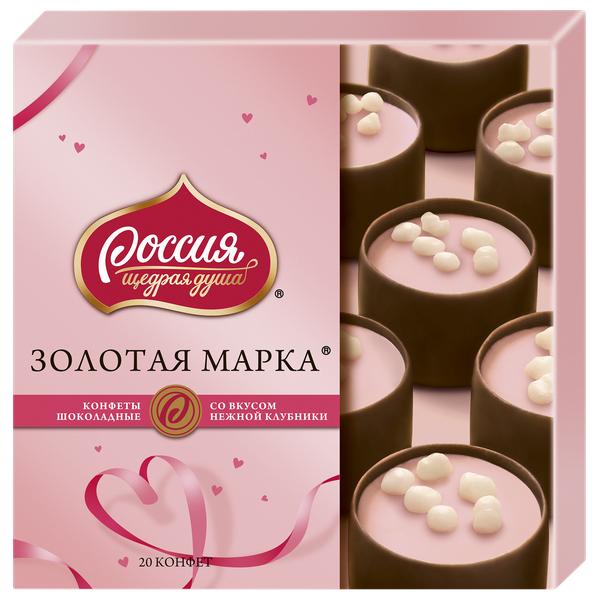 Конфеты шоколадные Россия -Щедрая Душа! с двухслойной начинкой клубника 184 г фото