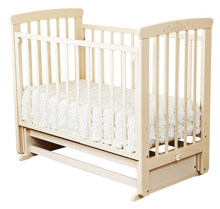 Купить Кровать детская Красная Звезда Марина С 702 резьба № 15 Слоновая кость, Красная звезда, Классические кроватки