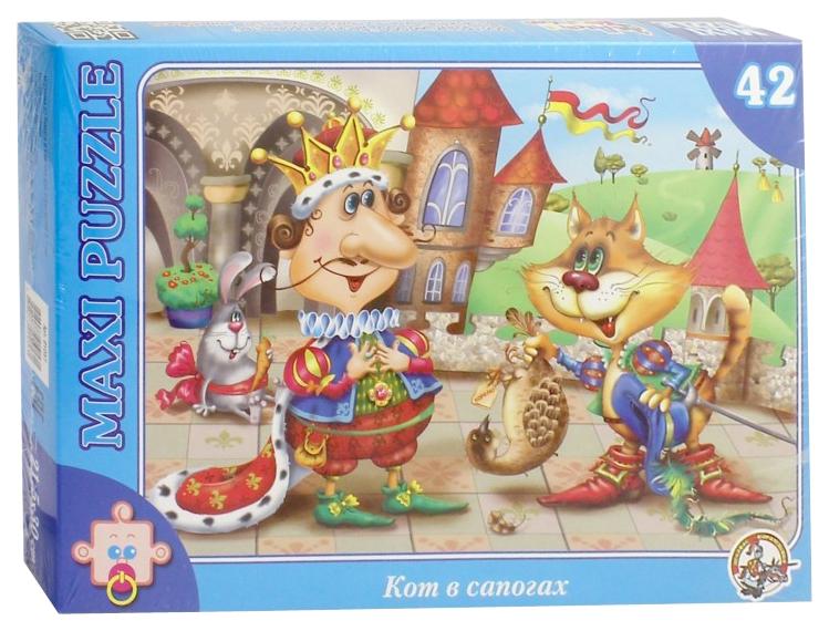 Купить Пазл Десятое Королевство Макси-пазл В гостях у сказки. Кот в сапогах 01057ДК, Пазлы