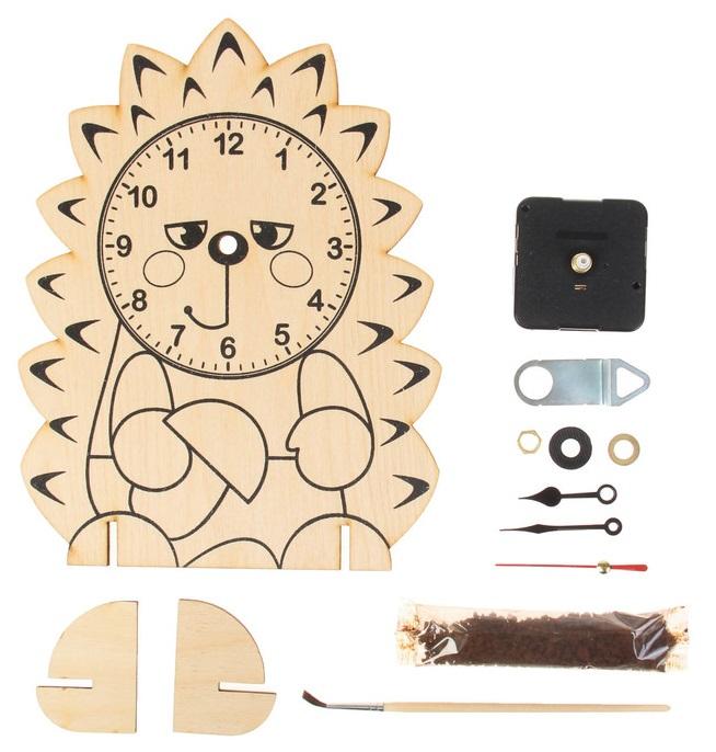Купить Поделка Десятое Королевство Деревянные часы Ежик 01958,