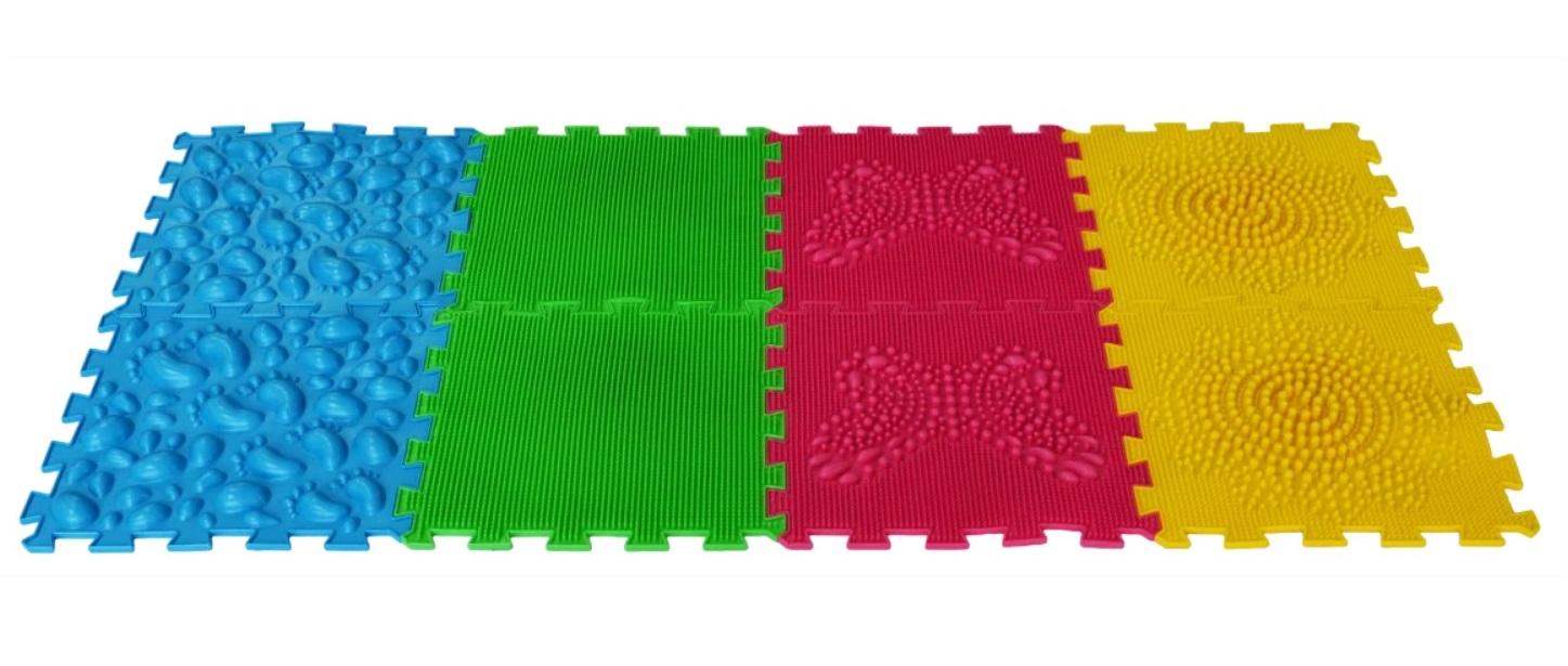 Купить Массажный коврик ОРТО ПАЗЛ, Микс Первые Шаги , ОртоПазл, Развивающие коврики и центры