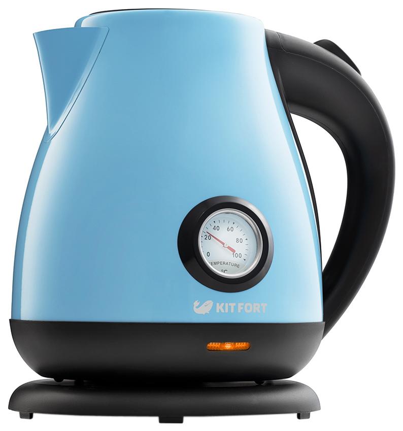 Чайник электрический Kitfort КТ-642-2 Black/Blue