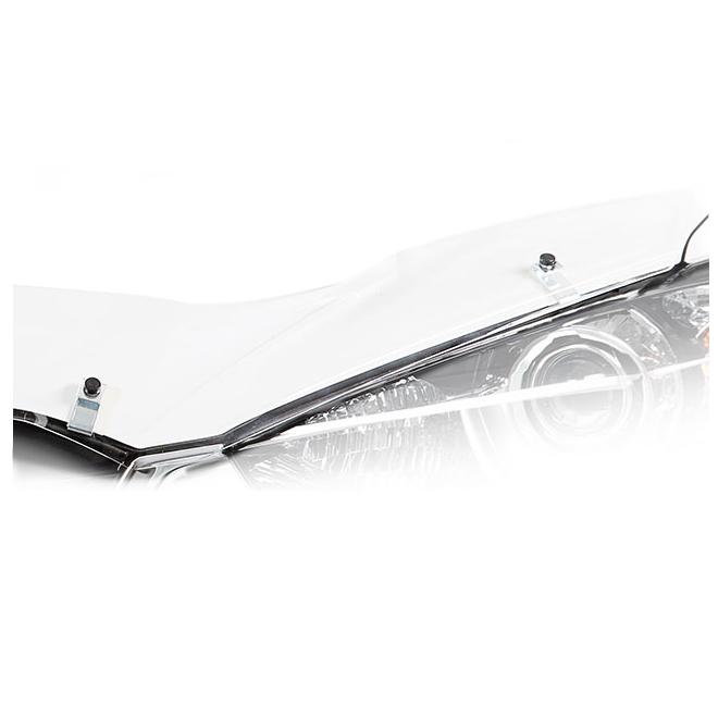 Дефлектор на капот CA Plastic для Chevrolet Aveo седан 2011–н.в. прозрачный