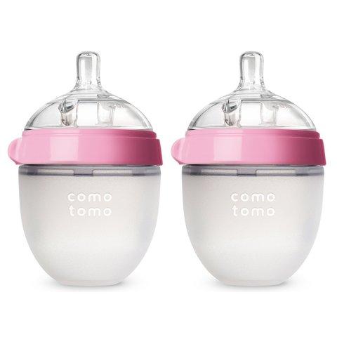 Набор из двух бутылочек для кормления Comotomo розовые 150 мл