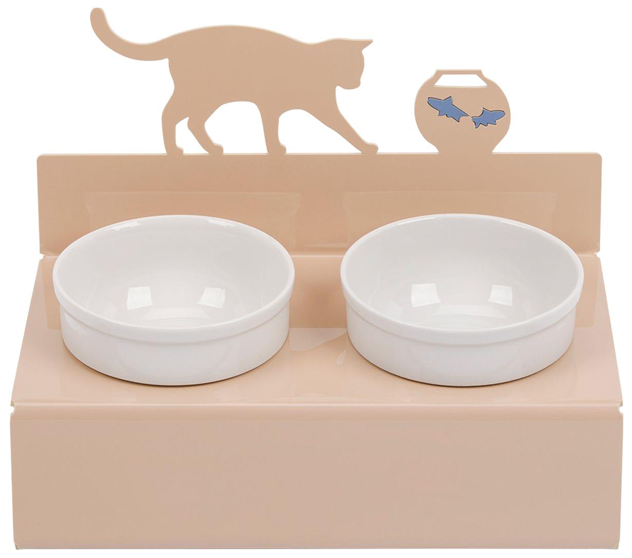 Двойная миска для кошек и собак Artmiska, керамика,