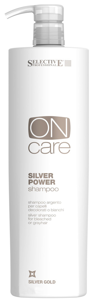 Шампунь Selective Professional On Care Tech Silver Power Shampoo 1000 мл