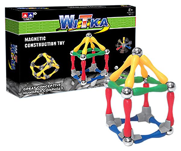 Купить Магнитный конструктор WITKA 80 деталей арт. 934., Магнитные конструкторы