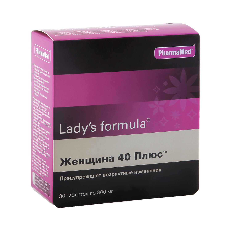 Купить Lady's formula женщина 40 плюс, Lady's formula PharmaMed женщина 40 плюс таблетки 30 шт.
