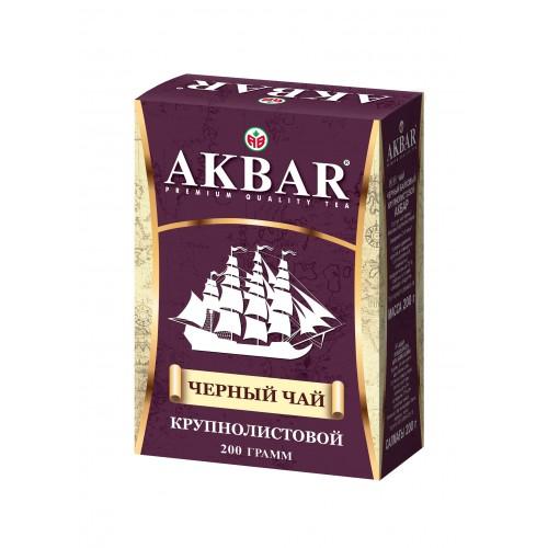 Чай черный листовой Akbar корабль 200 г фото