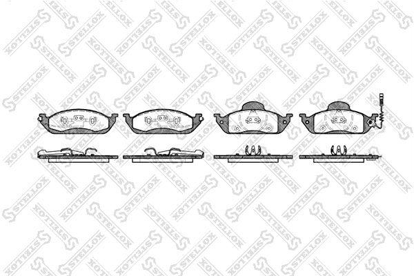 Комплект тормозных дисковых колодок Stellox 708 001B