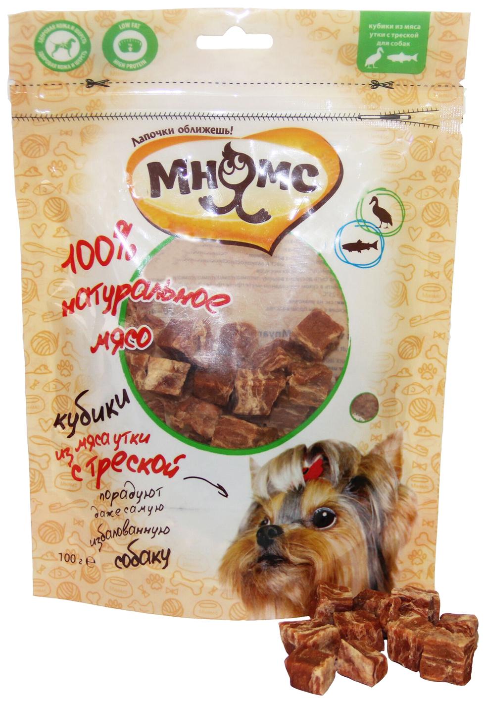 Лакомство для собак Мнямс, кубики из мяса, утка
