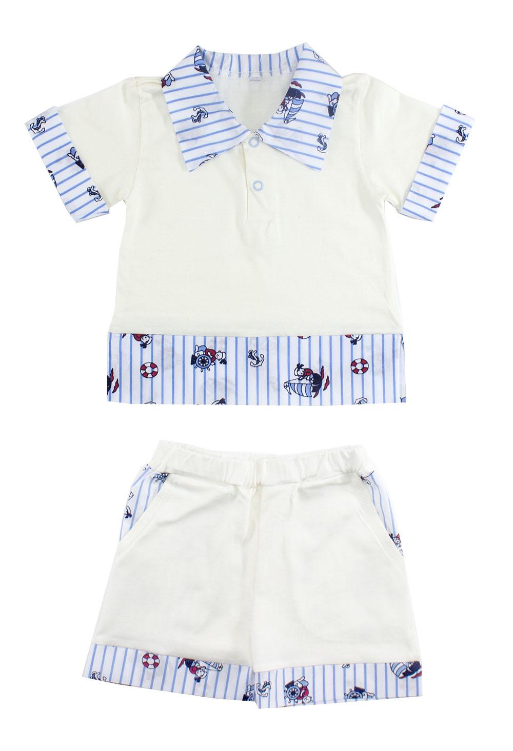 Комплект одежды Осьминожка, цв. белый р.86