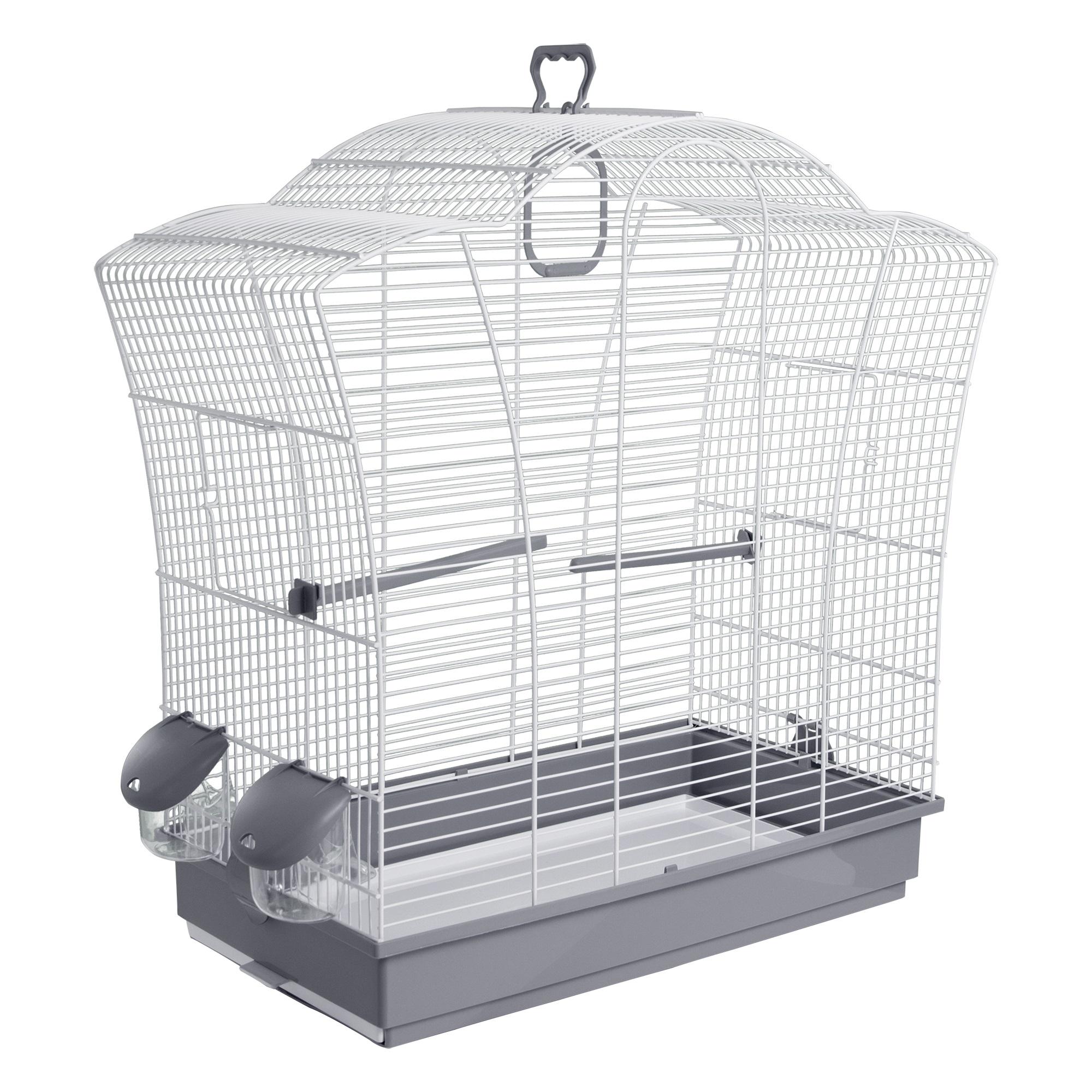 Клетка для птиц Voltrega (621) цвет белый/серый