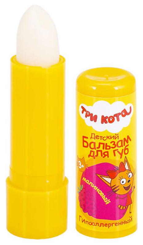 Купить Детский бальзам для губ Три Кота Gk-113/1 Малиновый с маслом персика, Три кота, Детские бальзамы для губ