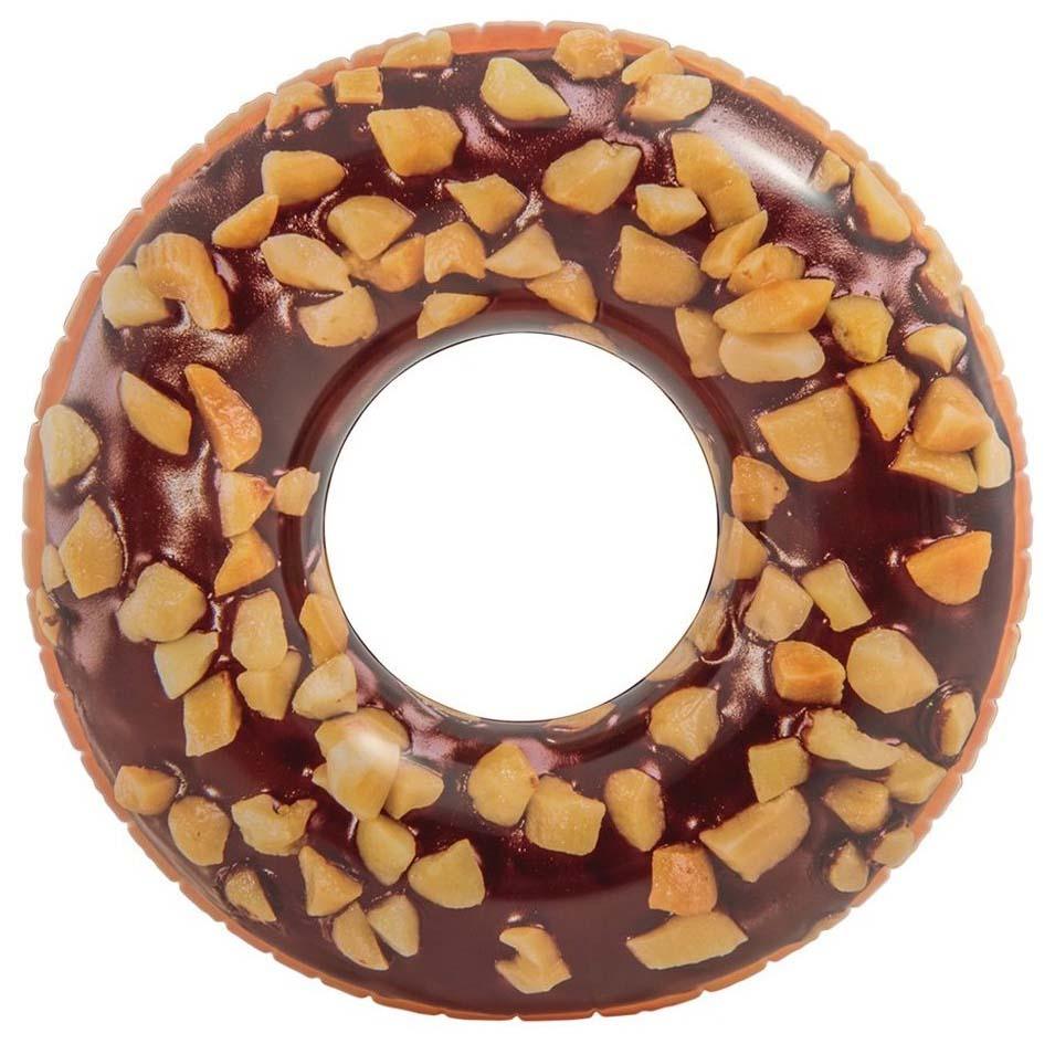 Круг для купания Intex Donut шоколадный